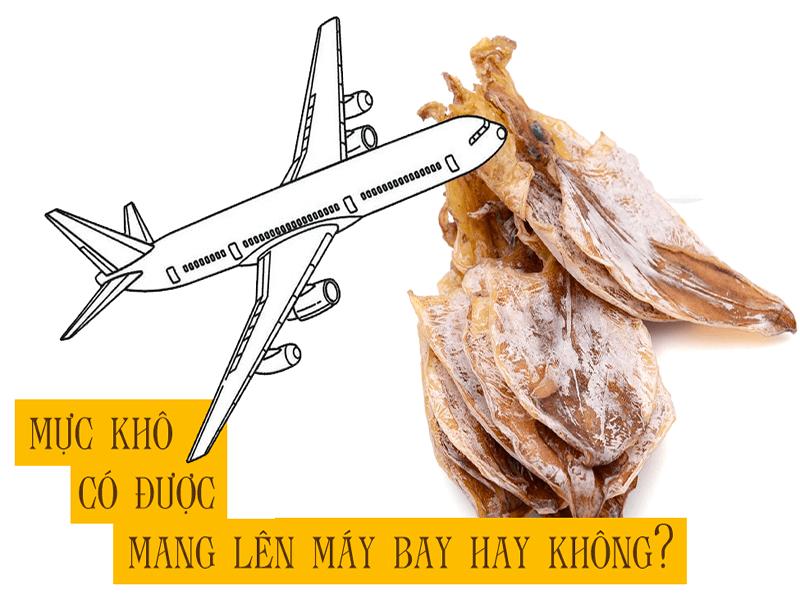 mực khô có được mang lên máy bay không